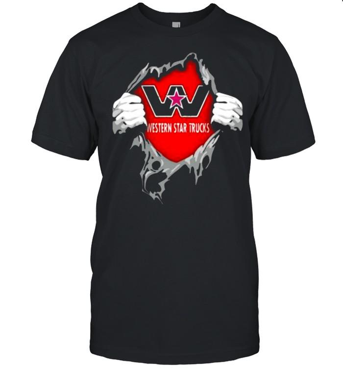 Superhero With Western Star Trucks Logo  Classic Men's T-shirt