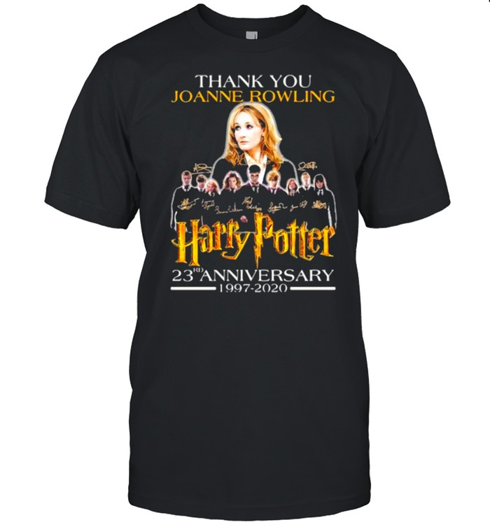 Thank You Joanne Rowling Harry Potter 23rd Anniversary 1997 2020 Signature  Classic Men's T-shirt