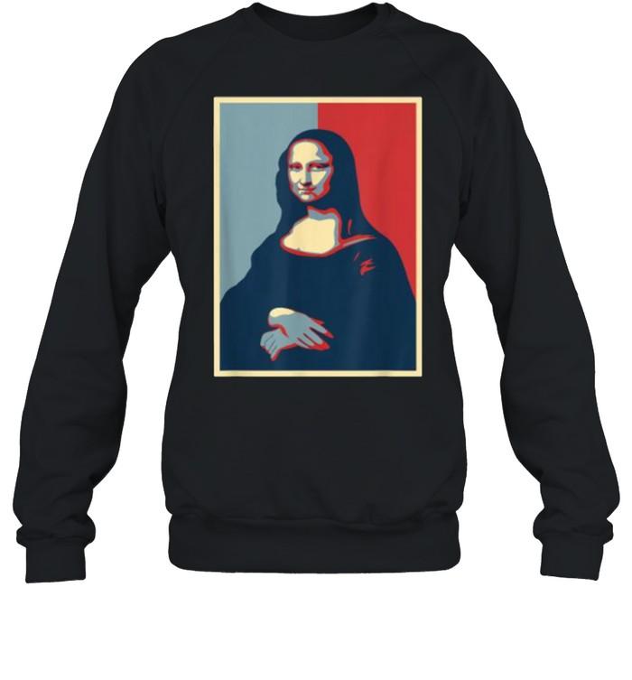 Vintage Mona Lisa Leonardo Da Vinci Renaissance Painting Unisex Sweatshirt