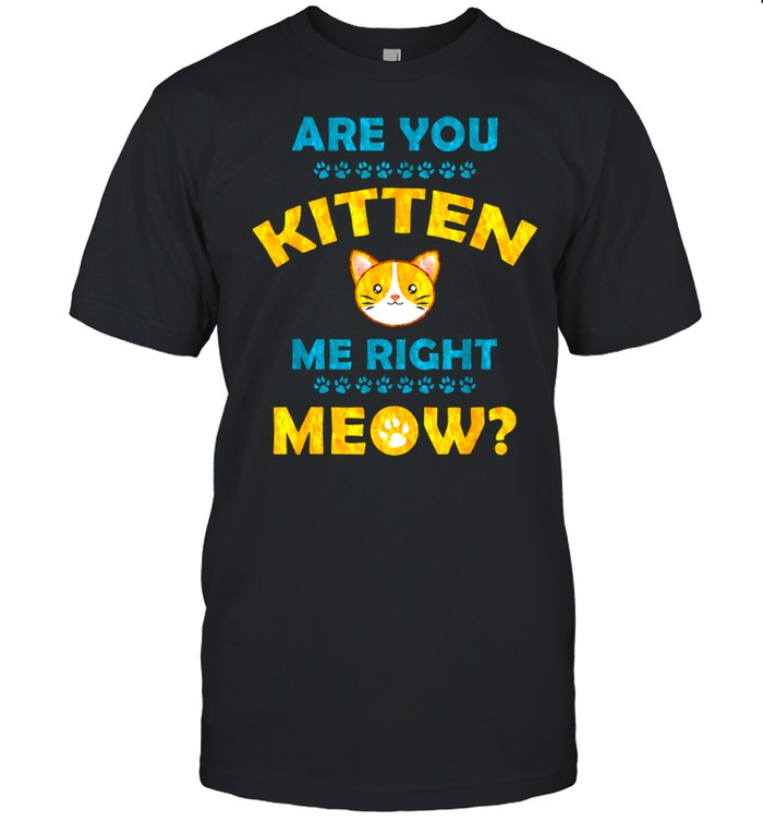 Are You Kitten Me Right Now shirt Classic Men's T-shirt