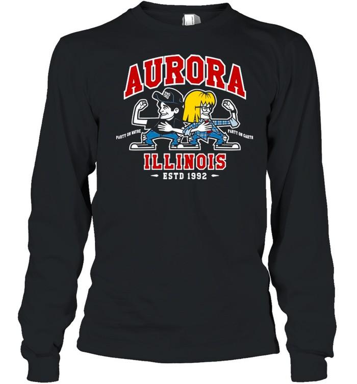 Jay & Silent Bob Chibi Aurora Illinois shirt Long Sleeved T-shirt