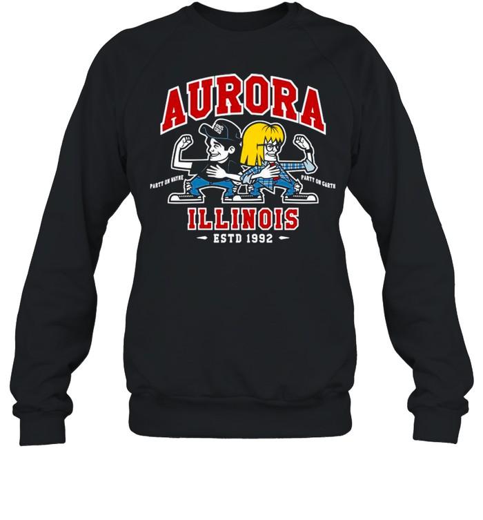 Jay & Silent Bob Chibi Aurora Illinois shirt Unisex Sweatshirt
