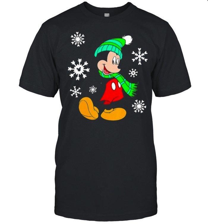 Mickey Snow Merry Christmas  Classic Men's T-shirt