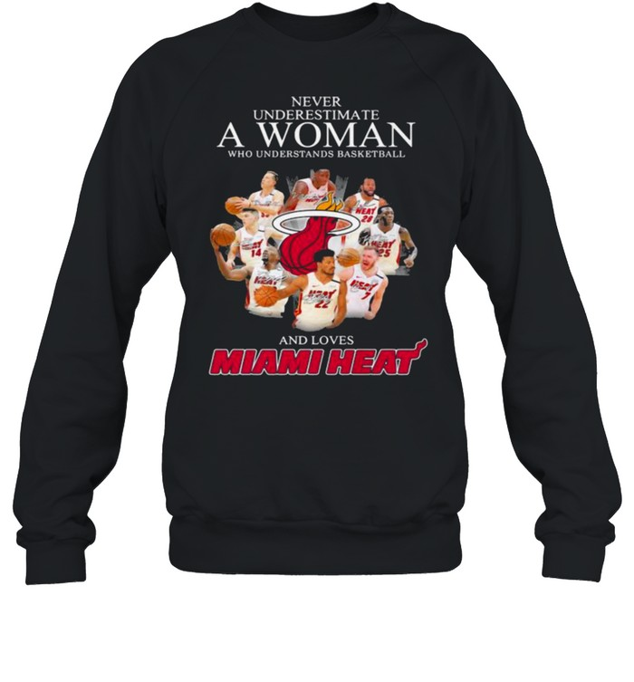 Never Underestimate A Woman Who Understands Basketball And Loves Miami Heat Signature Unisex Sweatshirt