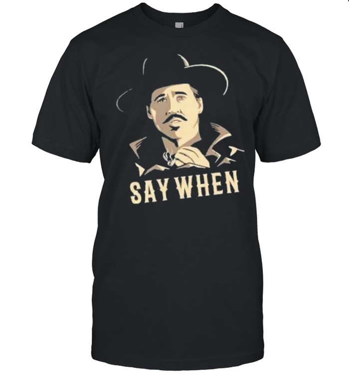 Say When Men Smoking  Classic Men's T-shirt