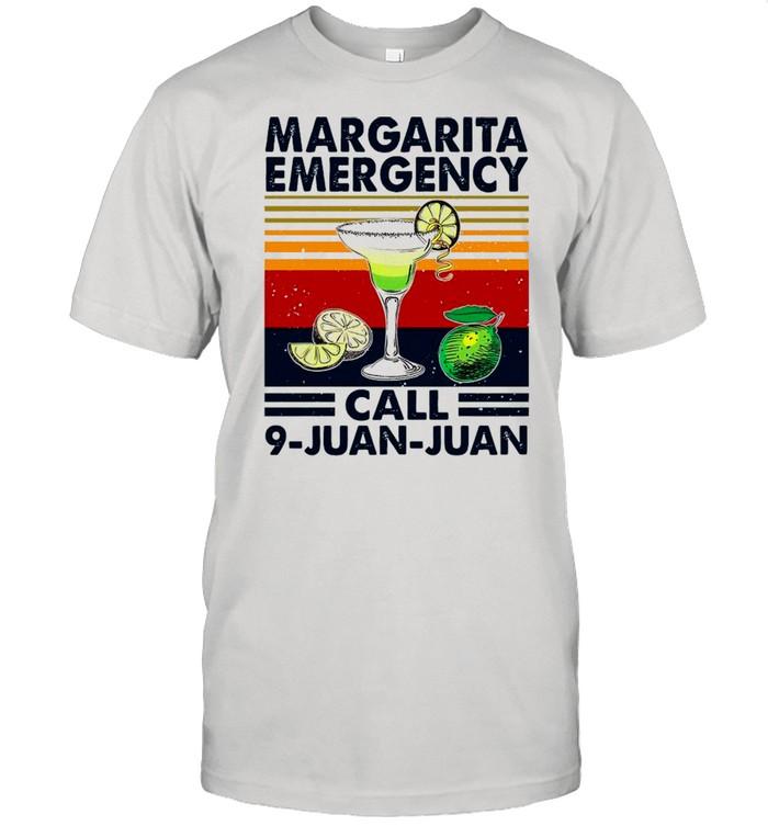 Gin Margarita Emergency Call 9 Juan Juan Vintage shirt Classic Men's T-shirt