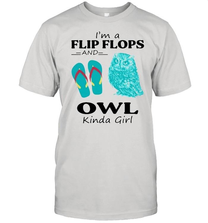 I'm A Flip Flops And Owl Kinda Girl T-shirt Classic Men's T-shirt