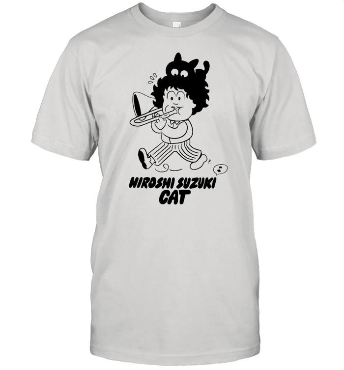 Hiroshi Suzuki Cat shirt Classic Men's T-shirt