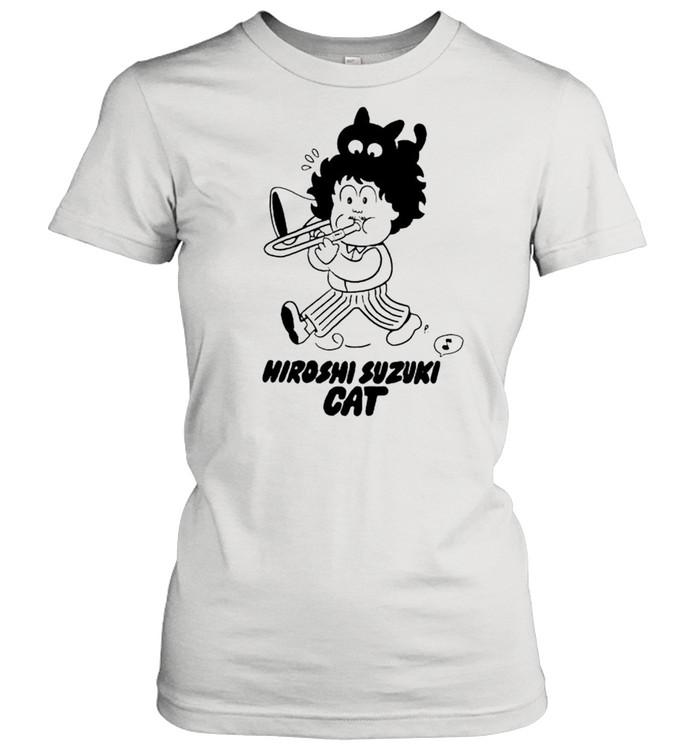 Hiroshi Suzuki Cat shirt Classic Women's T-shirt