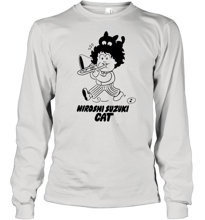 Hiroshi Suzuki Cat shirt Long Sleeved T-shirt