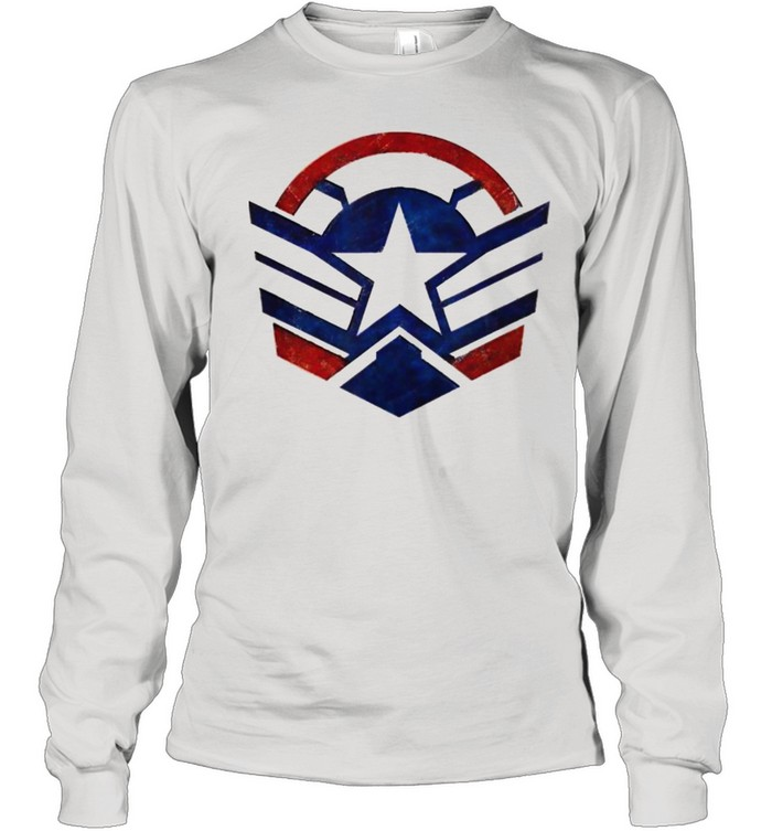 The Falcon and the Winter Soldier Captain America Star Icon  Long Sleeved T-shirt