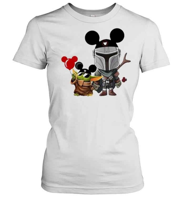 The Mandalorian Baby Yoda Mickey  Classic Women's T-shirt