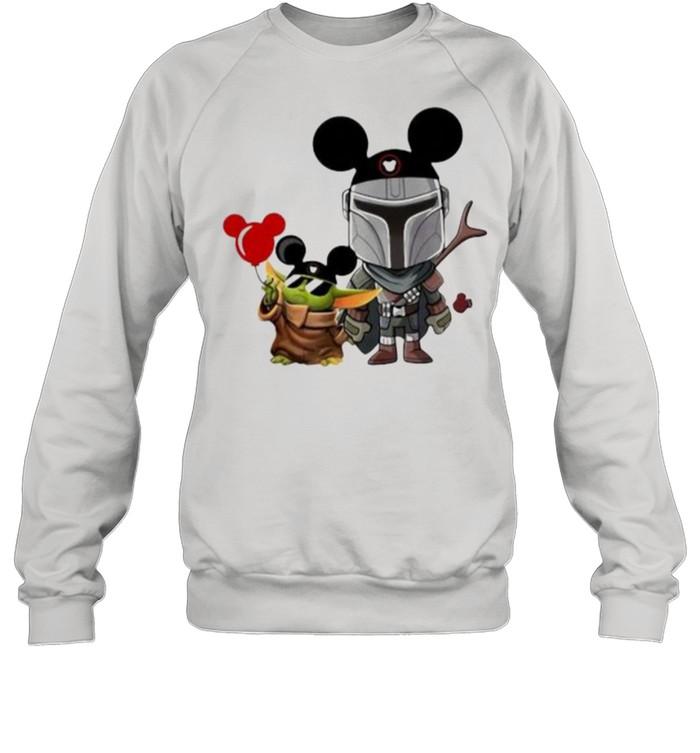The Mandalorian Baby Yoda Mickey  Unisex Sweatshirt