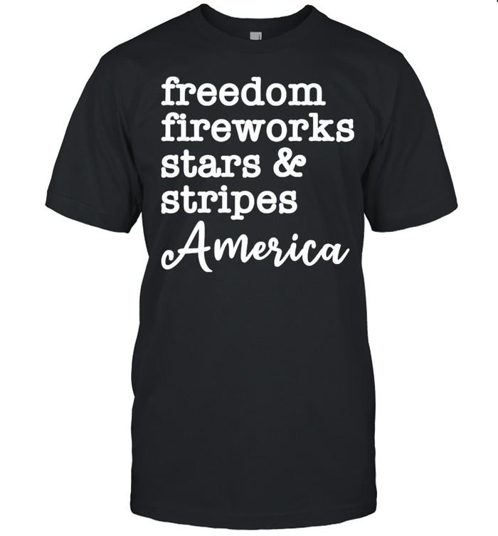 Freedom fireworks stars and stripes America shirt Classic Men's T-shirt