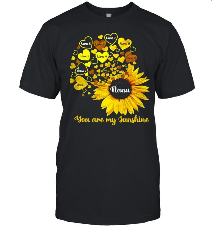 Personalized Mom Grandma Little Sunshine T-shirt Classic Men's T-shirt