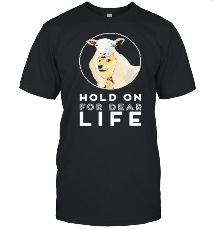 Dogecoin Hold On For Dear Life shirt Classic Men's T-shirt