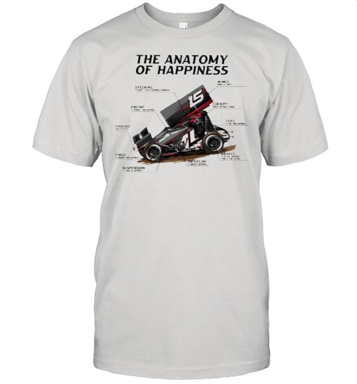 Sprint Car Racing The Anatomy Of Happiness  Classic Men's T-shirt
