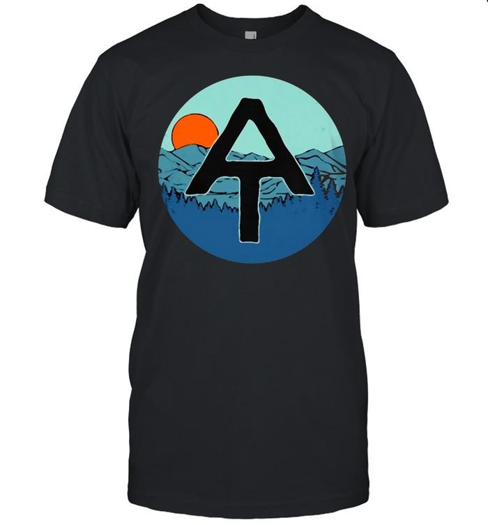 AT Appalachian Trail Hiker Hiking Sunset Mountain T-shirt Classic Men's T-shirt