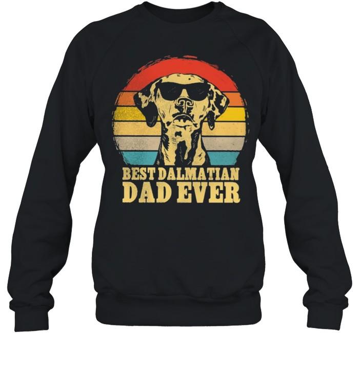 Best Dalmatian dad ever sunset retro shirt Unisex Sweatshirt