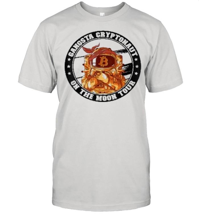 Dogecoin Bitcoin Gangsta Cryptonaut On The Moon Tour shirt Classic Men's T-shirt