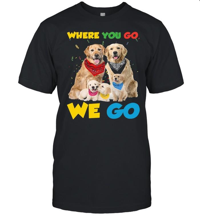 Golden Retriever Where You Go We Go For Dog T-shirt Classic Men's T-shirt