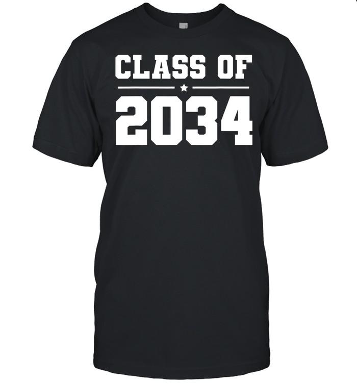 Kindergarten Class of 2034 Grow With Me Heather Gray shirt Classic Men's T-shirt