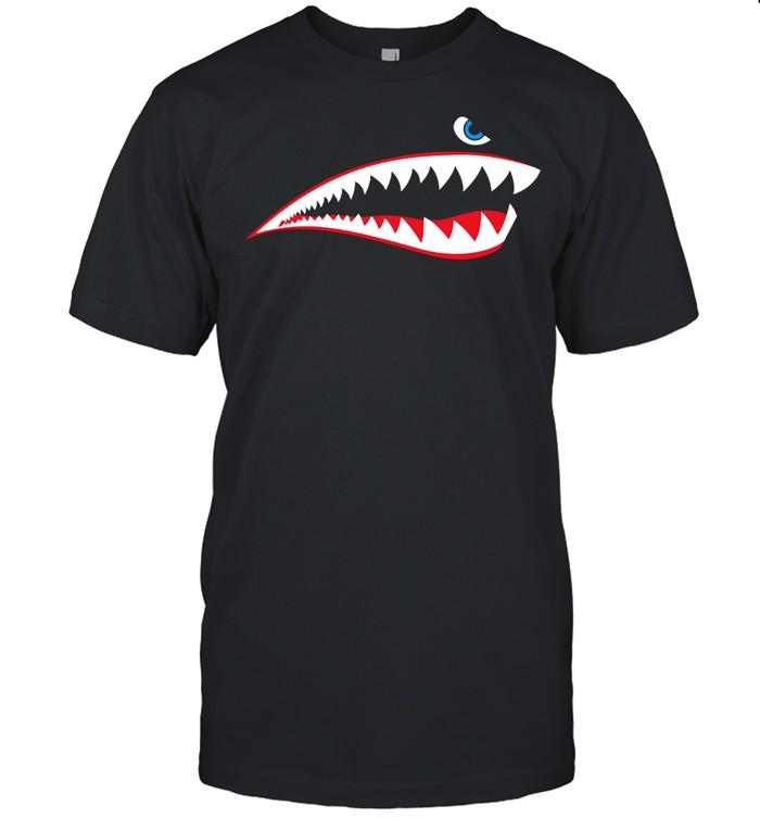 WW2 Nose Art World War II Veteran Aircraft Shark Nose Art shirt Classic Men's T-shirt