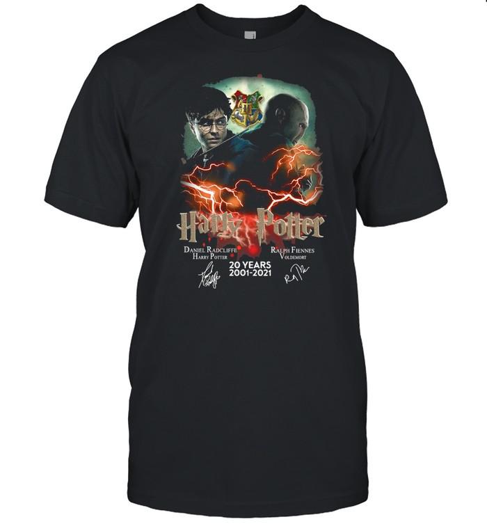 Confrontation Harry Potter Vs Voldemort 20 Years 2001-2021 Signatures T-shirt Classic Men's T-shirt