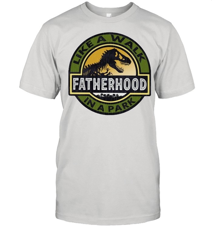 Dinosaur like a walk fatherhood in a park shirt Classic Men's T-shirt
