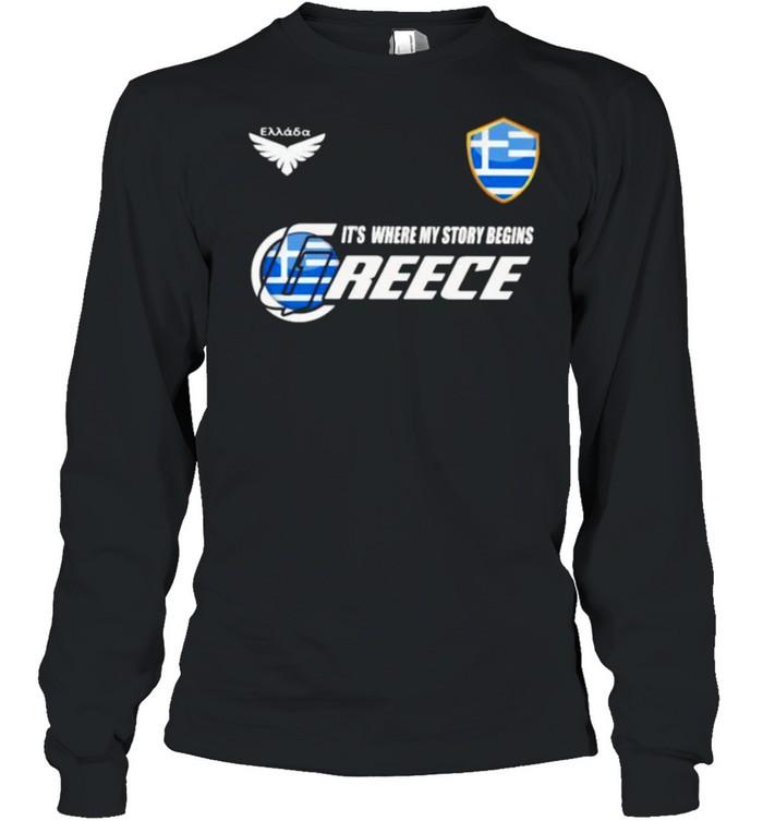 Greece DSA 2 Classic It Where My Story Begins  Long Sleeved T-shirt