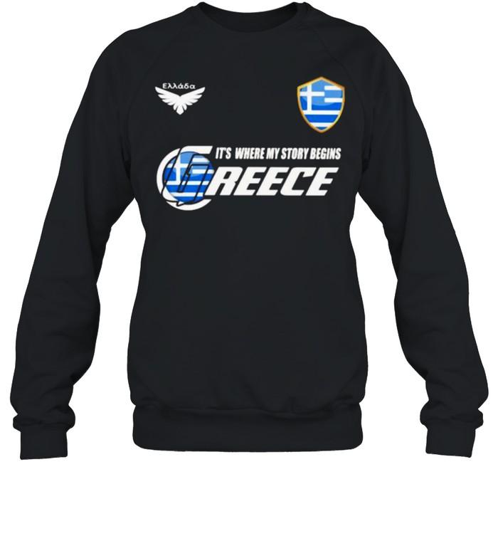 Greece DSA 2 Classic It Where My Story Begins  Unisex Sweatshirt