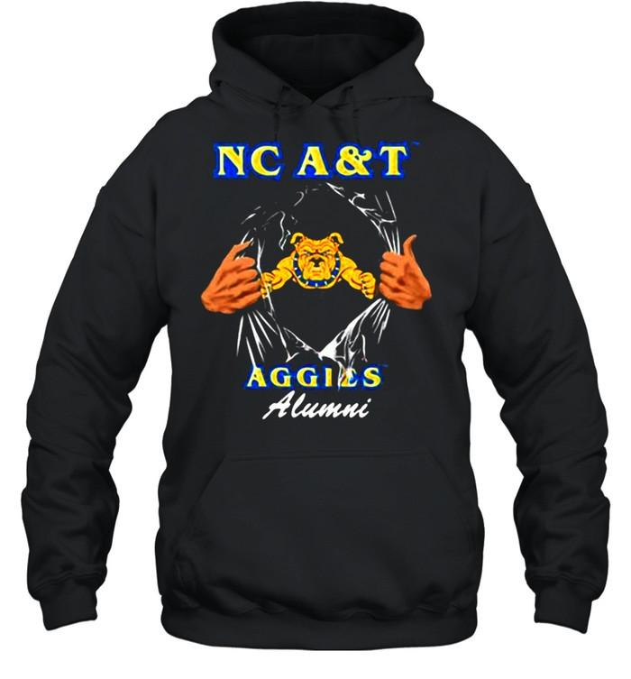 Nc A&T Aggies Alumni Dog  Unisex Hoodie