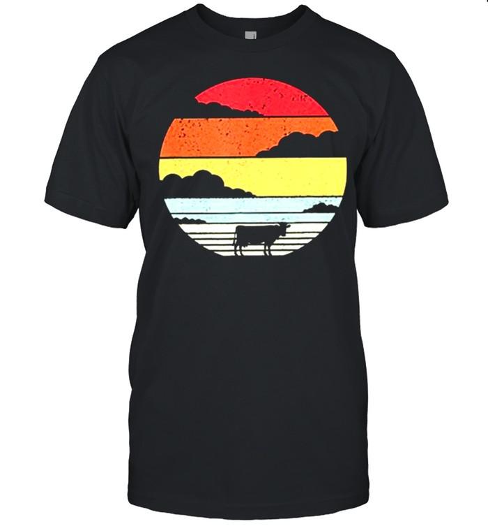 Retro Vintage Cow Sunshine shirt Classic Men's T-shirt