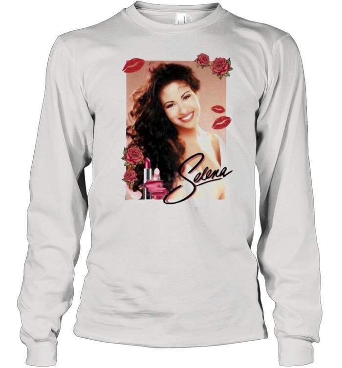 Selena Lip Flowers  Long Sleeved T-shirt