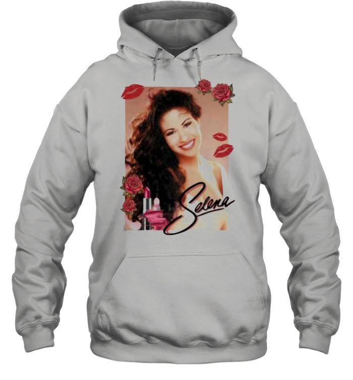 Selena Lip Flowers  Unisex Hoodie