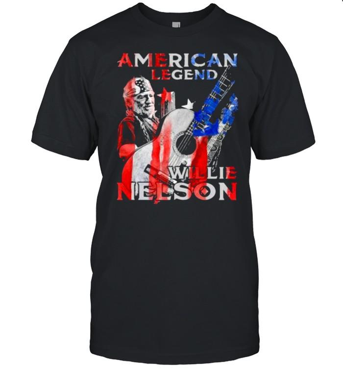 American Legend Willie Nelson Flag  Classic Men's T-shirt
