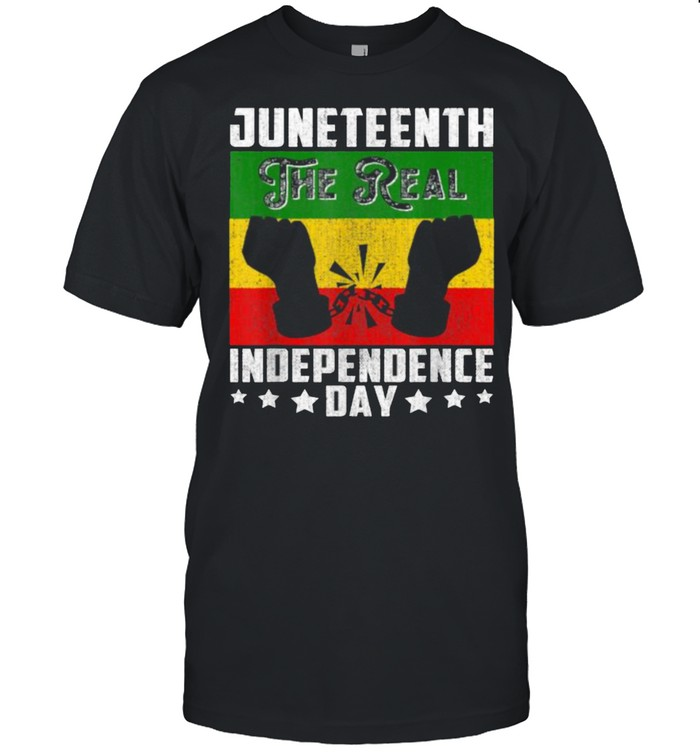 Black Freedom JuneteenthThe Real Independence Freedom Day T- Classic Men's T-shirt