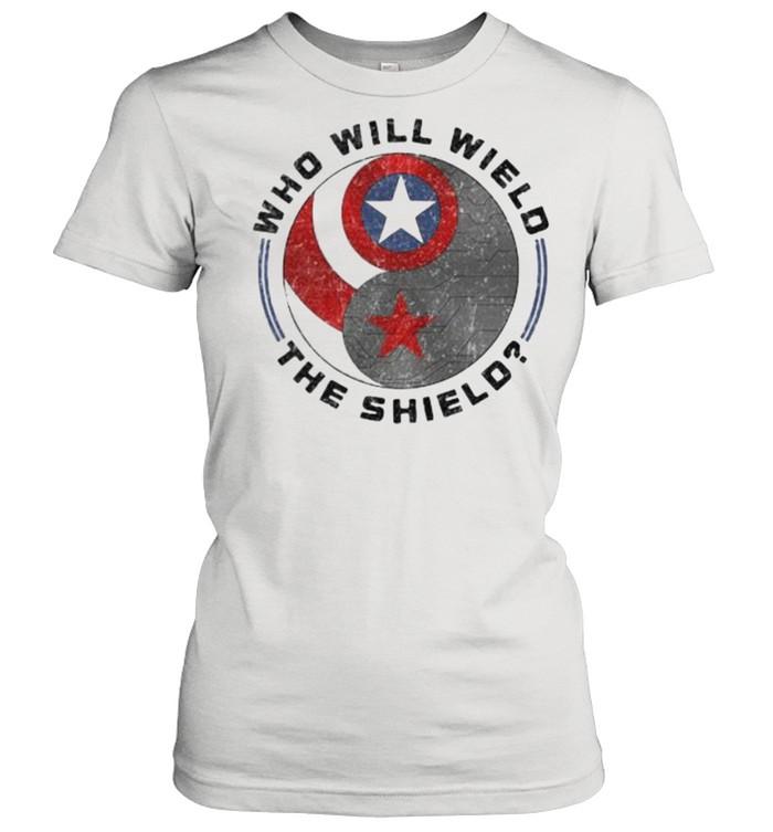 Who will wield the shield captain america logo shirt Classic Women's T-shirt