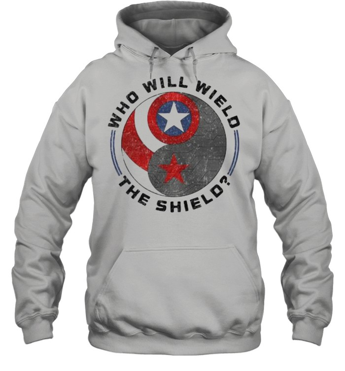 Who will wield the shield captain america logo shirt Unisex Hoodie