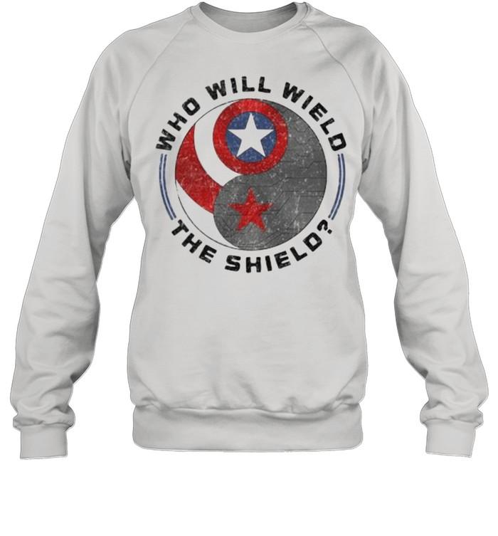 Who will wield the shield captain america logo shirt Unisex Sweatshirt