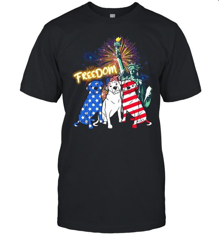 Rottweiler Dog Liberties Freedom American Flag T-shirt Classic Men's T-shirt