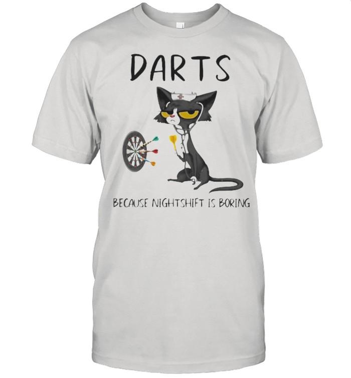 Darts Because Murder Is Boring Cat  Classic Men's T-shirt