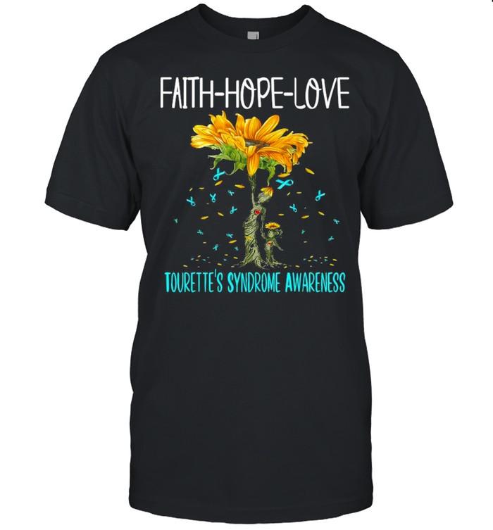 Faith Hope Love Tourette's Syndrome Awareness  Classic Men's T-shirt