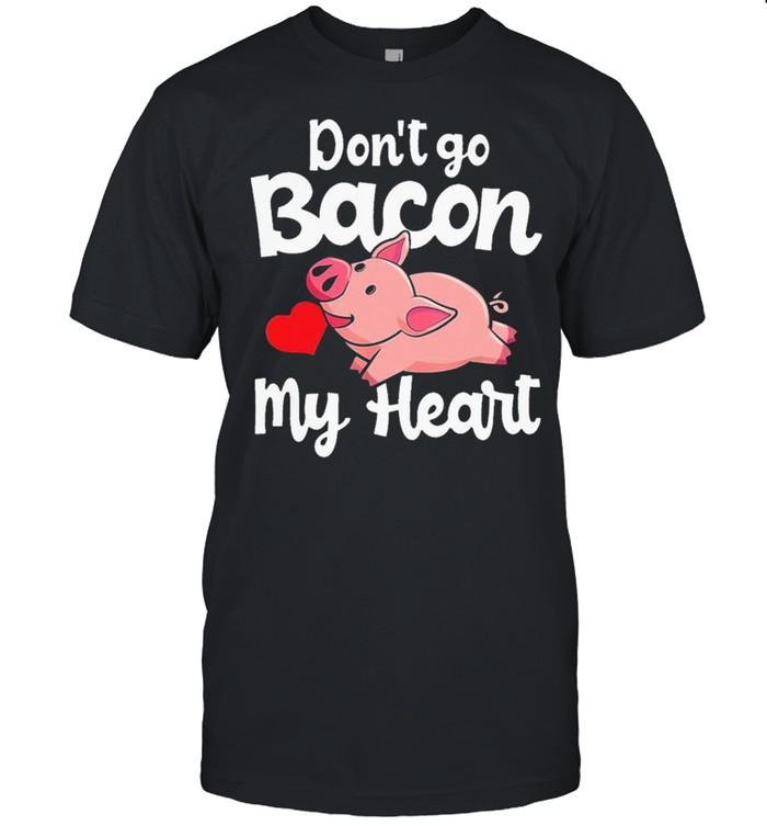 My heart pig dont go bacon shirt Classic Men's T-shirt