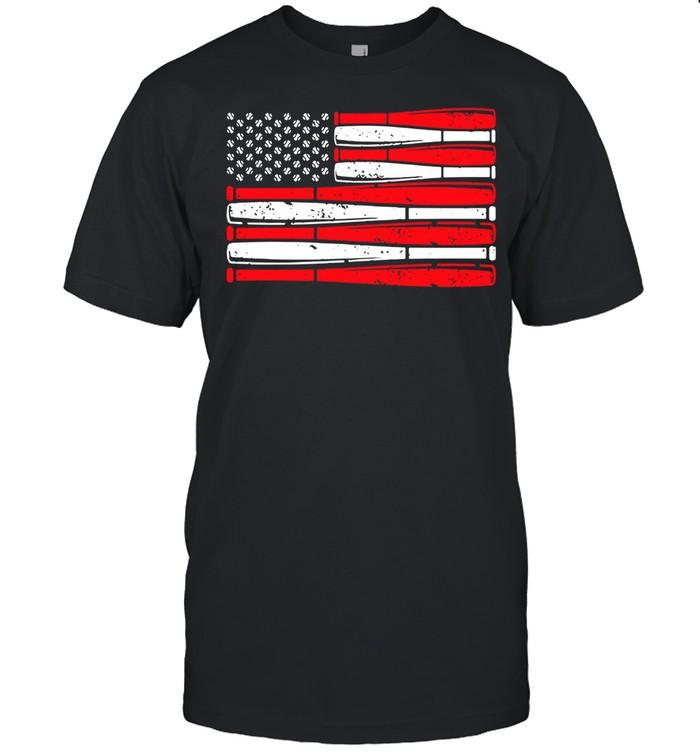 Baseball American Flag shirt Classic Men's T-shirt