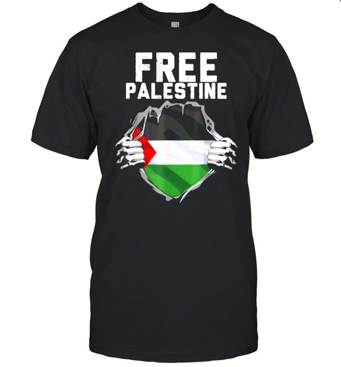 FREE PALESTINE Palestine Flag Hero T- Classic Men's T-shirt