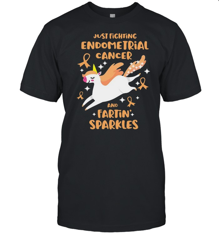Unicorn Just Fighting Endometrial Cancer And Farting Sparkles T-shirt Classic Men's T-shirt