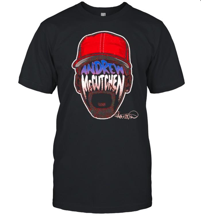 Philadelphia Andrew McCutchen Player Silhouette signature shirt Classic Men's T-shirt