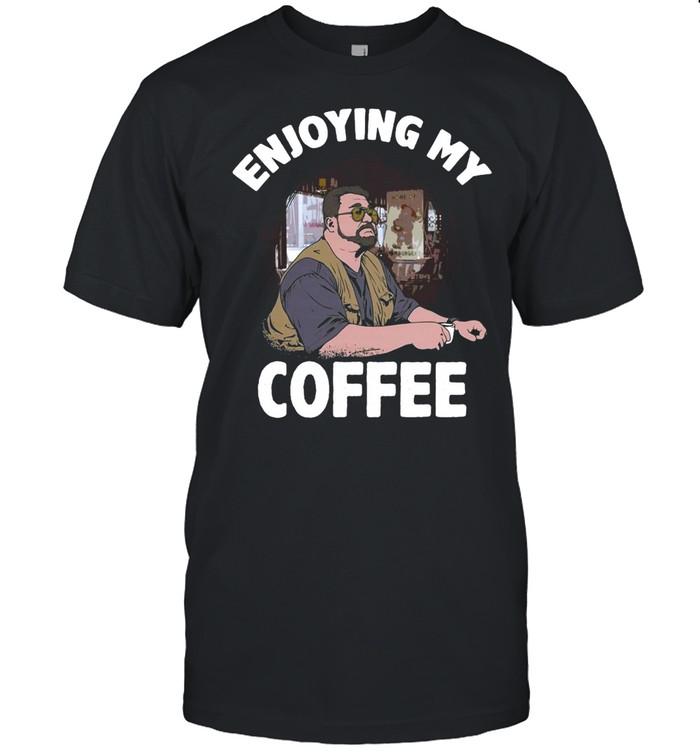 Enjoying My Coffee Coaster T-shirt Classic Men's T-shirt