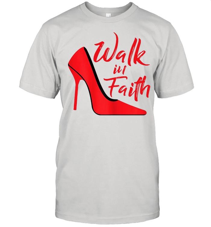 Walk In Faith Based Apparel Plus Size Christian Believer T-shirt Classic Men's T-shirt